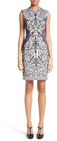 Yigal Azrouel Women's Cheetah Neoprene Sheath Dress