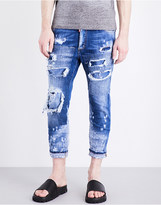 DSQUARED2 Glam Head distressed slim-fit jeans