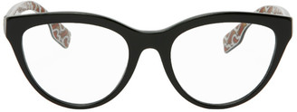Burberry Black Monogram Cat-Eye Glasses