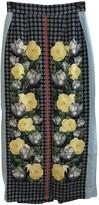 Mother of Pearl Navy Silk Skirt for Women