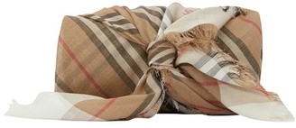 Burberry Wool and silk pocket square.