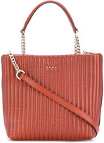 DKNY quilted pinstripe shopper - women - Lamb Skin - One Size