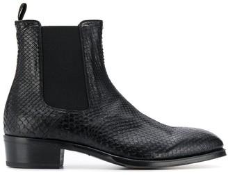 Alexander McQueen textured ankle boots