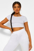 boohoo Nicola Basic Short Sleeve Crop Top