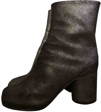 Maison Margiela Tabi Anthracite Leather Ankle boots