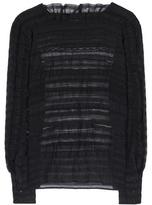 Isabel Marant Rivera Silk And Linen Ruffled Lace Top