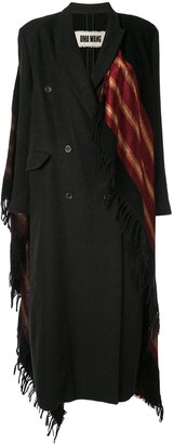 UMA WANG Double-Breasted Scarf Coat