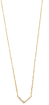Ef Collection Diamond Mini Chevron Necklace