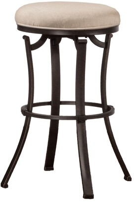Hillsdale Furniture Bryce Backless MIdnight Mocha Swivel Counter Stool
