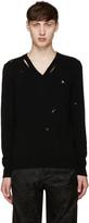 Alexander McQueen Black Distressed Sweater