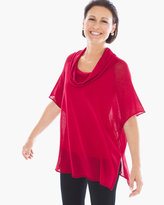 Chico's Dalyn Cowl Pullover in Renaissance Red