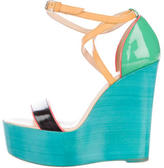Christian Louboutin Colorblock Platform Sandals