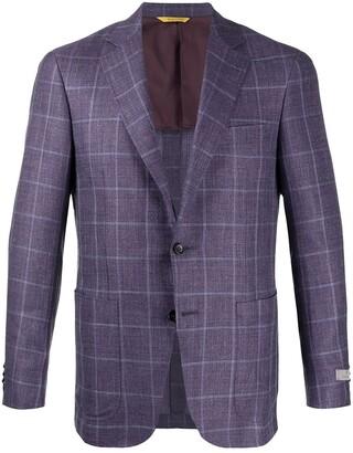 Canali Woven Check Blazer