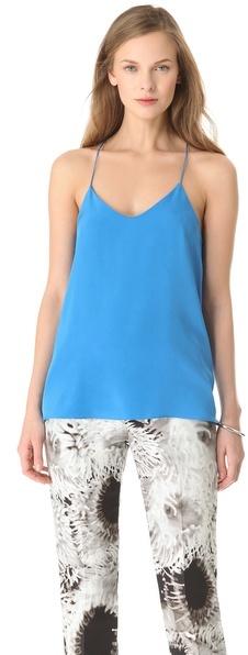 Tibi Solid Silk Camisole