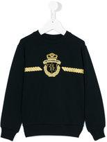 Billionaire Kids - embroidered sweatshirt - kids - Cotton/Spandex/Elastane - 2 yrs
