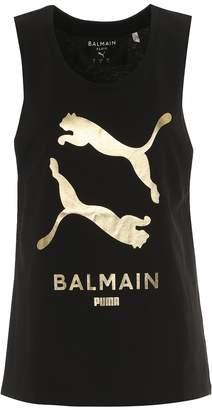 Puma x Balmain logo cotton tank top