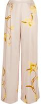 Carine Gilson Floral-print Silk-satin Pajama Pants - Yellow
