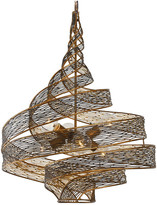 Varaluz 240P06HO Flow 6-Light Twist Pendant in Hammered Ore