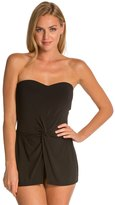 Robin Piccone Ava Signature Essentials Bandeau Skirted One Piece Swimsuit 8130488