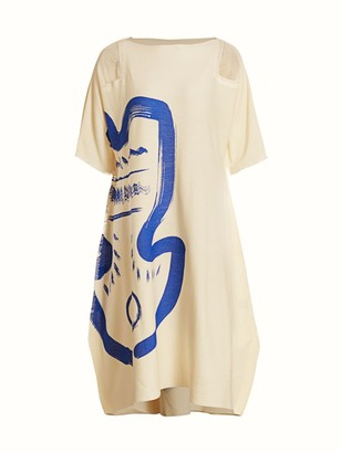 Issey Miyake Drawing AP A-Line Dress