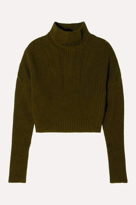 Petar Petrov Ribbed Cashmere Sweater - Green