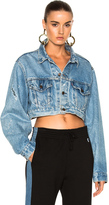 RE/DONE Crop Denim Jacket in Blue.
