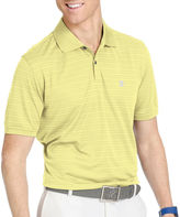 Izod Golf Textured Striped Polo