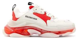 Balenciaga Triple S Mesh Trainers - Womens - Red White