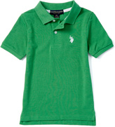 U.S. Polo Assn. Green Heather Horse Emblem Polo - Toddler & Boys