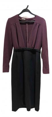 Miu Miu Burgundy Wool Dresses