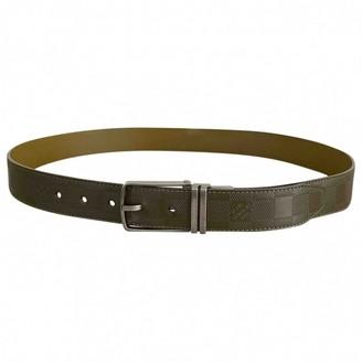 Louis Vuitton Khaki Leather Belts