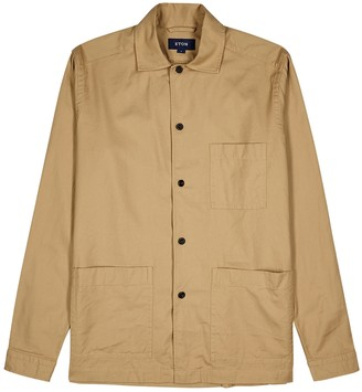 Eton Camel cotton overshirt