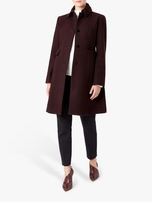 Hobbs Evalina Coat, Aubergine