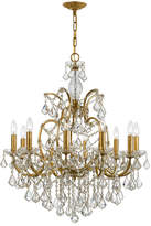 Swarovski Crystorama Filmore 10-Light Gold Chandelier