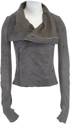 Rick Owens \N Grey Leather Jackets