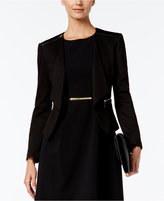 Nine West Roma Faux-Leather-Trim Blazer