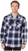 Pendleton L/S Board Shirt (Navy/Bright Blue Plaid) Men's Long Sleeve Button Up