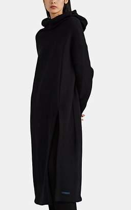 Yohji Yamamoto Regulation Women's Cotton-Blend Fleece Hoodie Top - Black