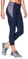Under Armour Fitted Capri Leggings with Printed Patch