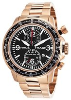 Glam Rock Grt29112f-Br Men's Racetrack Chrono Rose-Tone Ss Black Dial Rose-Tone Aluminum Watch