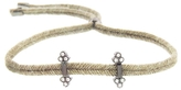 Yannis Sergakis Adornments Cord Bracelet with Four Diamond Clusters