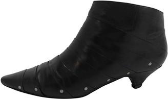 Diane von Furstenberg Black Leather Ankle boots