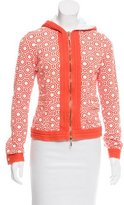 Tory Burch Abstract Terry Cloth Hoodie