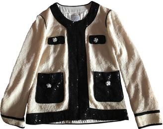 Edward Achour Ecru Glitter Jacket for Women