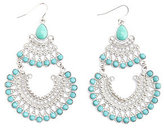 Charlotte Russe Turquoise & Silver Tiered Chandelier Earrings