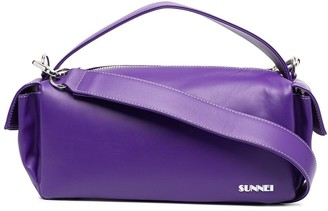 Sunnei Leather Tote Bag