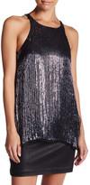 Parker Sleeveless Embellished Sequin Silk Tank
