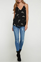 Love Stitch Lovestitch Printed Floral Racerback