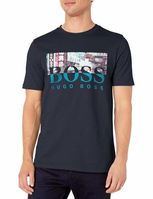 HUGO BOSS BOSS Men's Tee 7 Logo Print T-Shirt