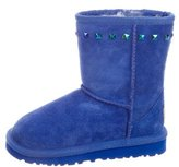 UGG Girls' Classic Stud-Embellished Booties w/ Tags